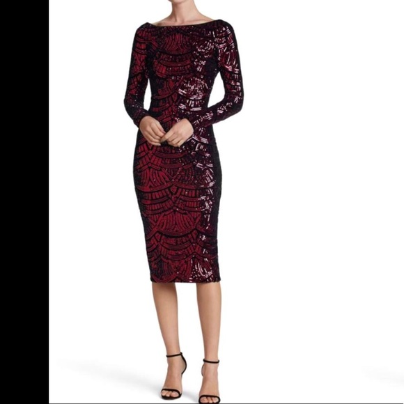 298bd81a Dress the Population Dresses & Skirts - Dress the Population Emery Scoop  Back Sequin Midi